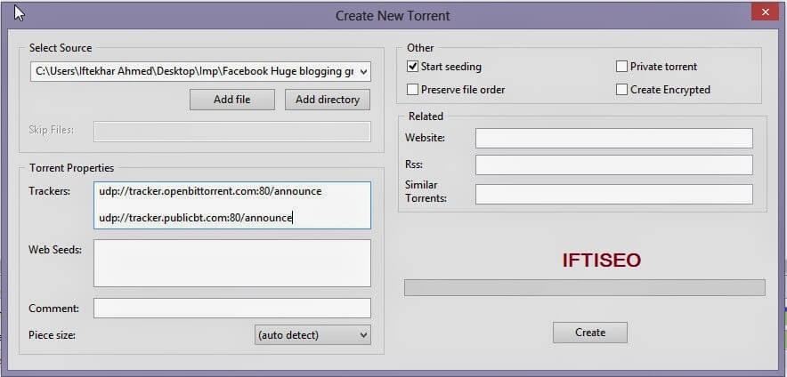 How To Create And Upload Your First Torrent