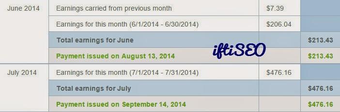 Random Month Earnings - JUNE JULY 2014