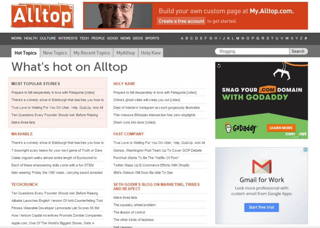 AllTop.com Blogging