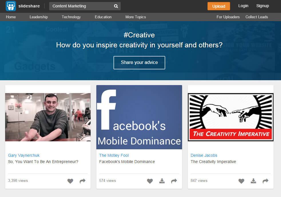 SlideShare Content Marketing
