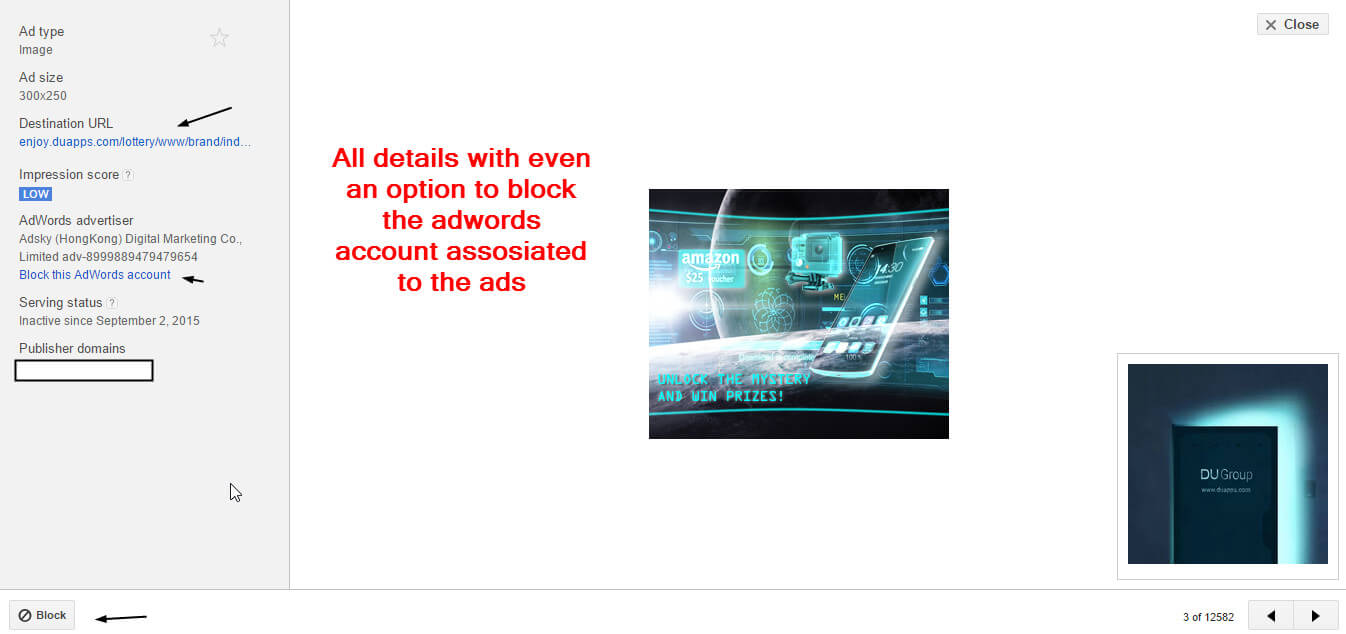 Complete ad details