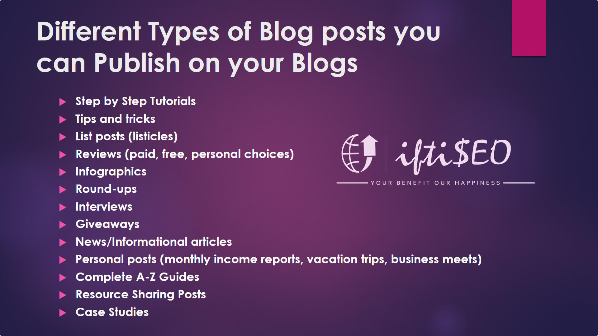 different types of blogs