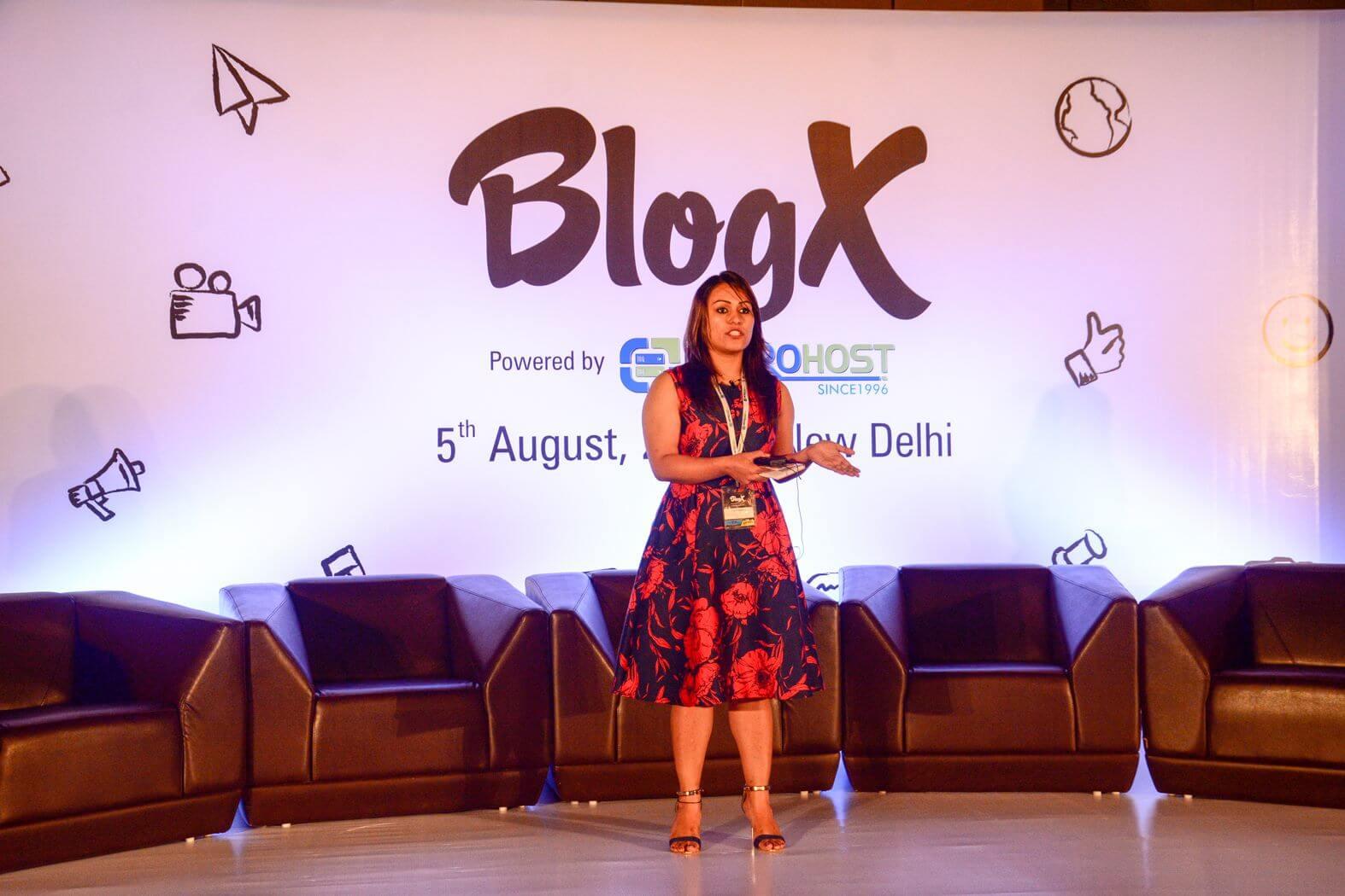 preet sandhu speaking at blogx